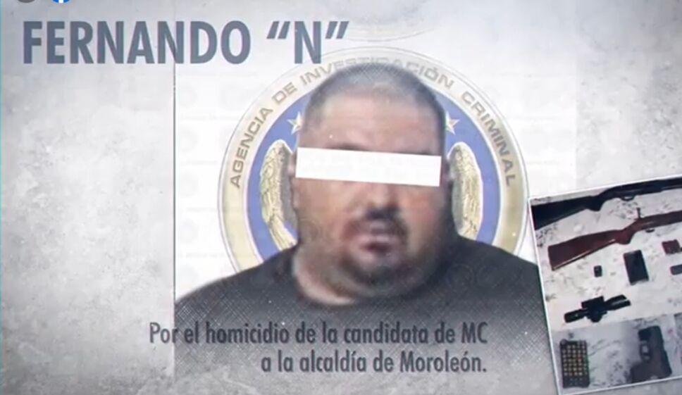 Fiscalía detiene a presunto homicida de candidata de Moroleón