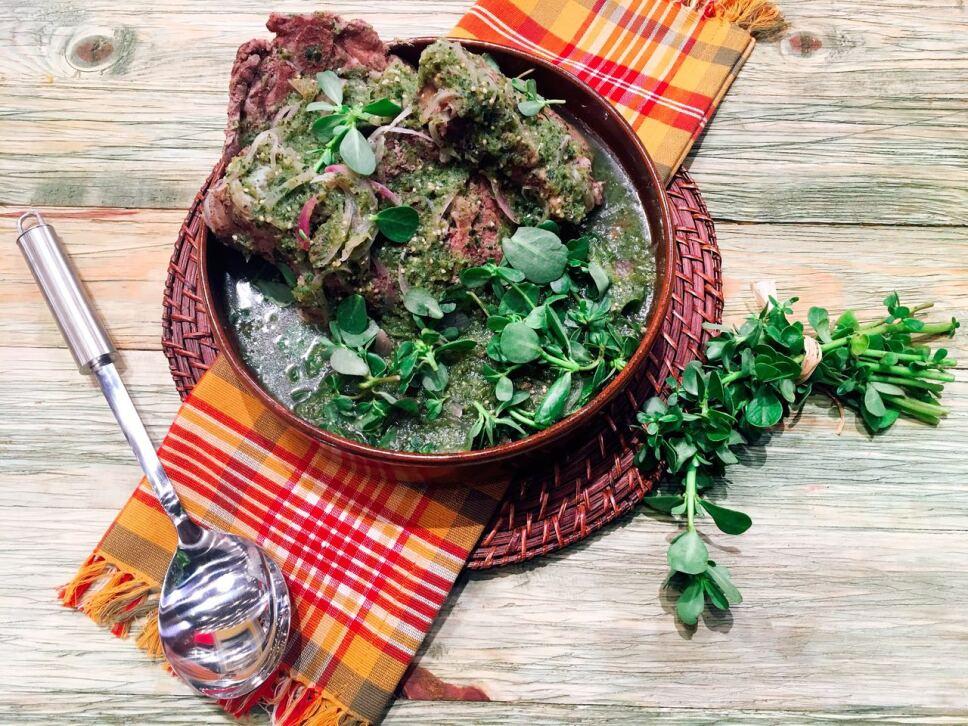 espinazo con verdolagas, receta, cocineros mexicanos, tv azteca