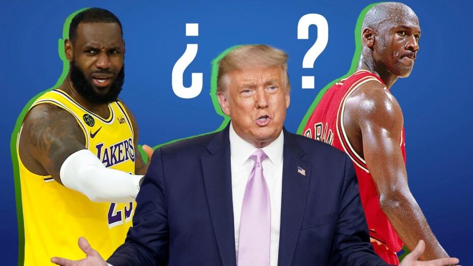 Donald Trump decide quién es mejor entre LeBron y Jordan