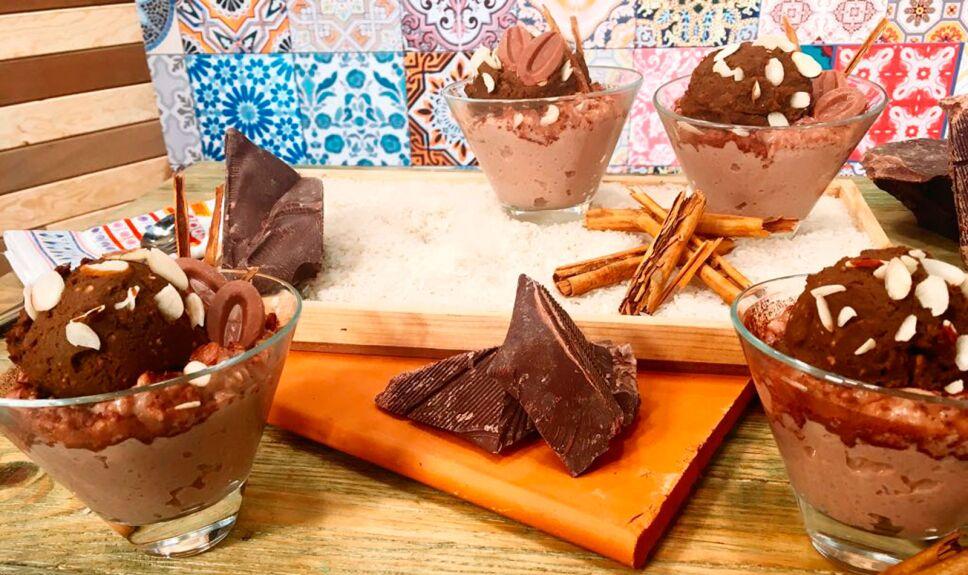 Receta Arroz con leche de chocolate
