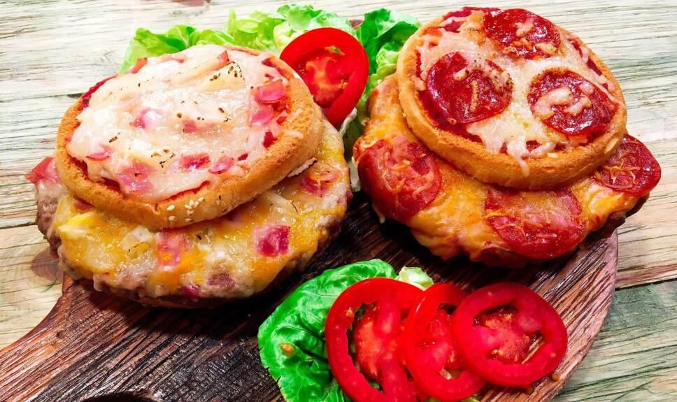 Receta Hambur pizza Cocineros Mexicanos
