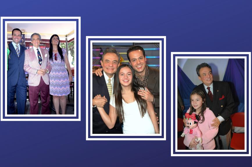 José Joel, Marysol y Sarita junto a su querido padre.