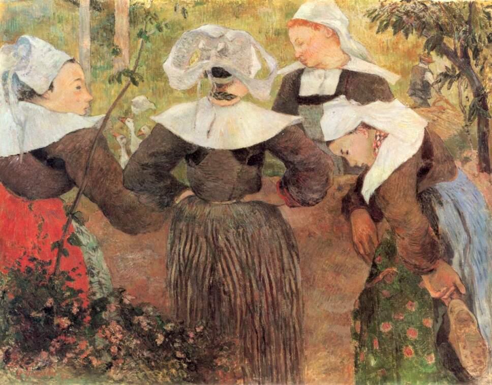 obras de paul gauguin cuatro bretonas
