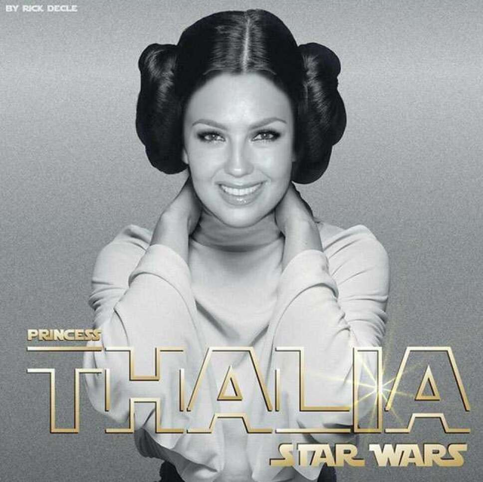 Thalía disfraza de la princesa Leia