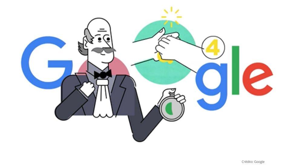 doddle de google en homor a Ignaz Semmelweis