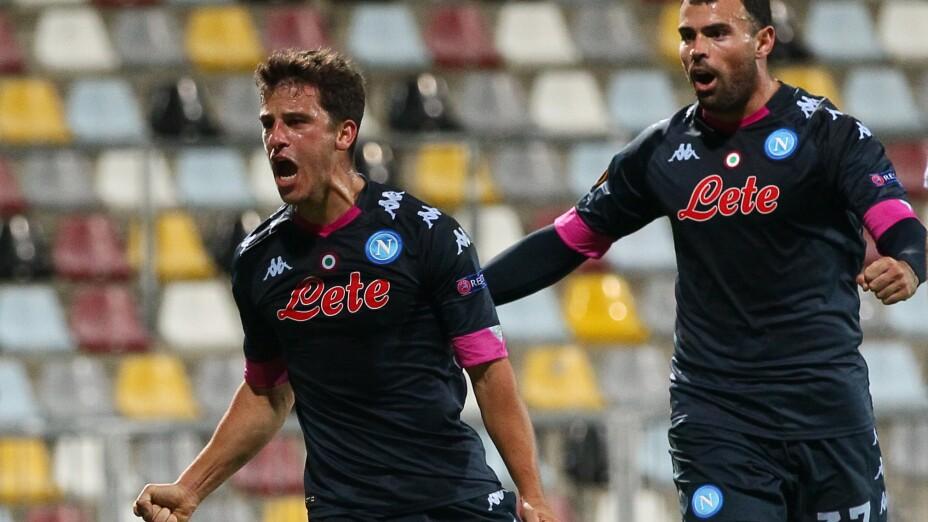 Napoli gana en suelo croata