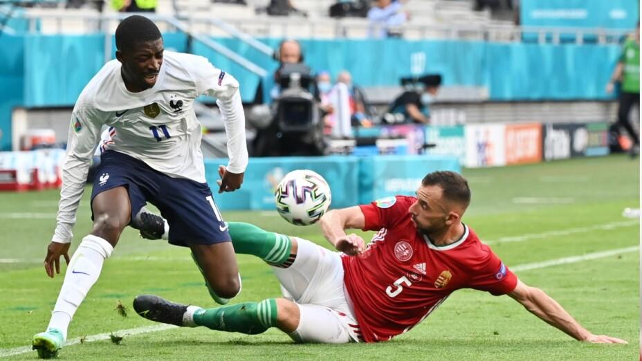 Ousmane Dembélé con la selección de Francia