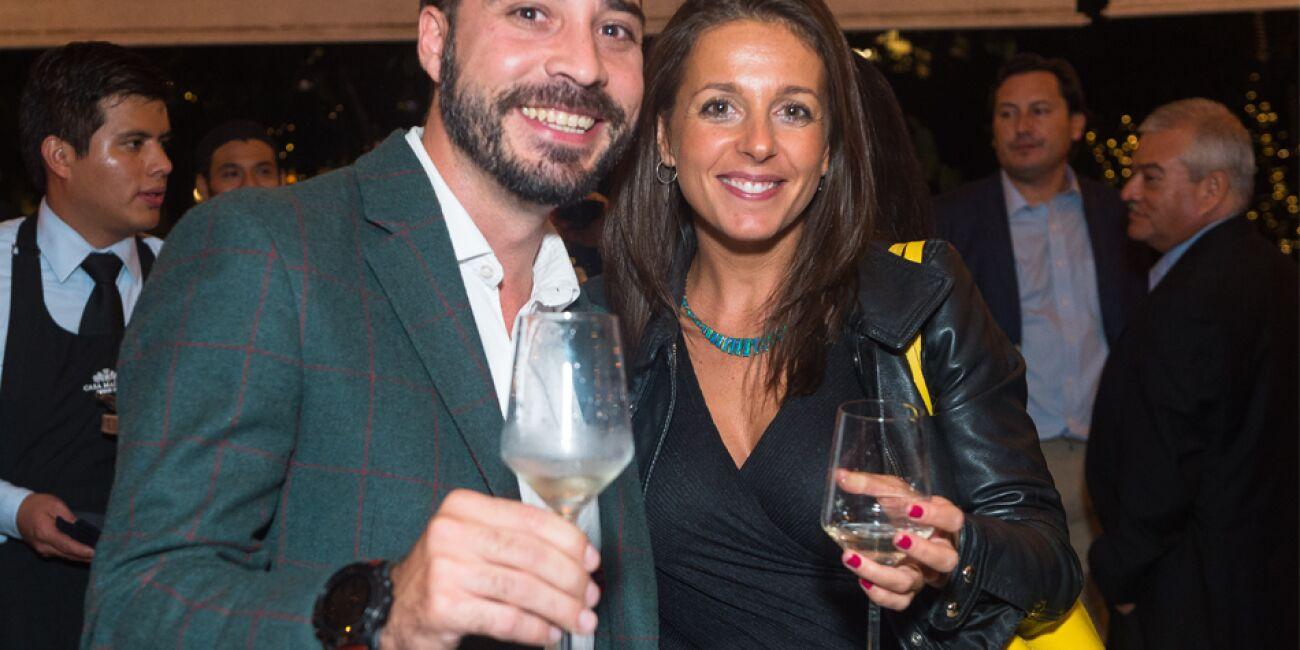 Carlo Gavinelli y Angie Rodríguez