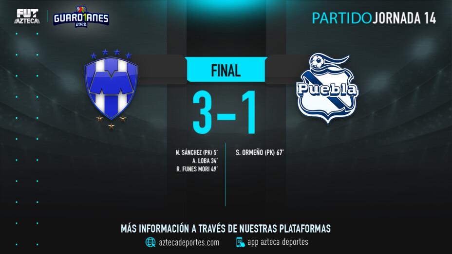 Monterrey vs Puebla jornada 14