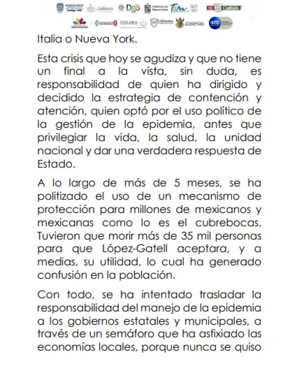 Exigen gobernadores renuncia inmediata de López-Gatell (3)