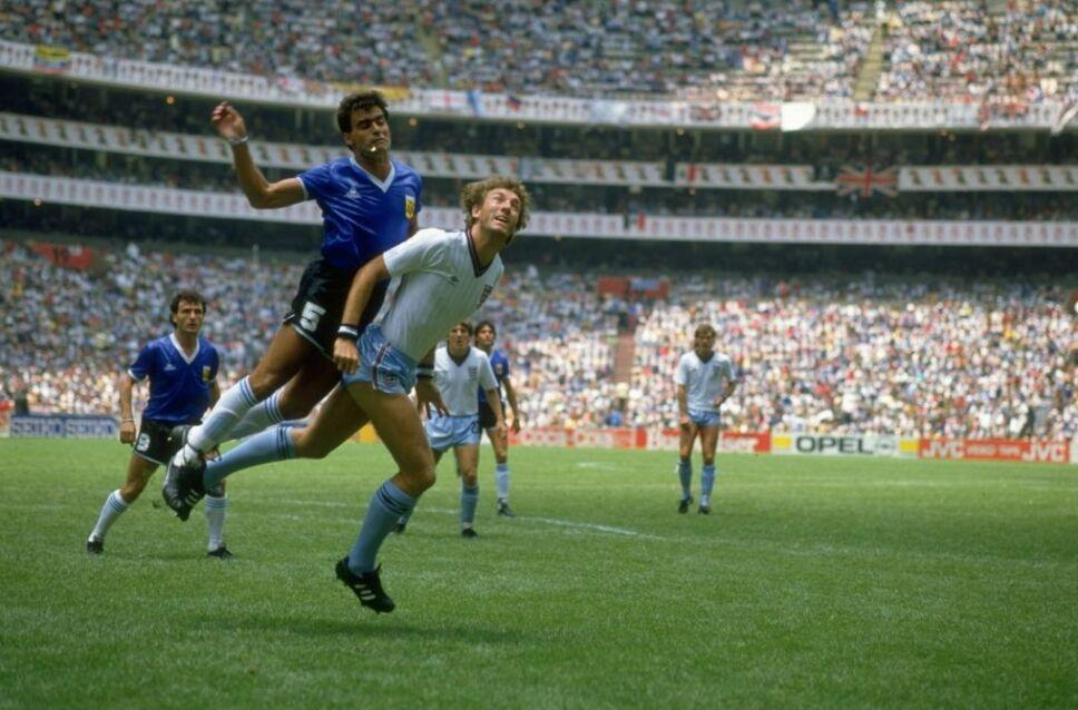Argentina e Inglaterra en el Estadio Azteca en el mundial del 86