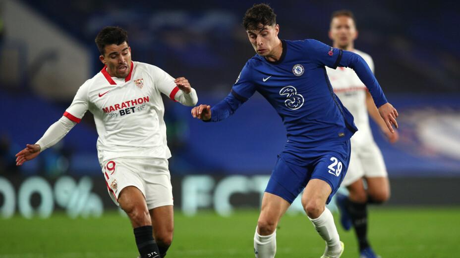Chelsea ante el Sevilla en la Champions League
