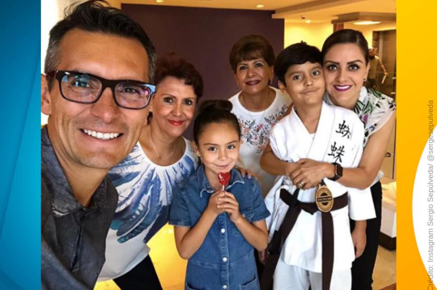 Sergio Sepúlveda siempre aprovecha el tiempo libre con su familia.