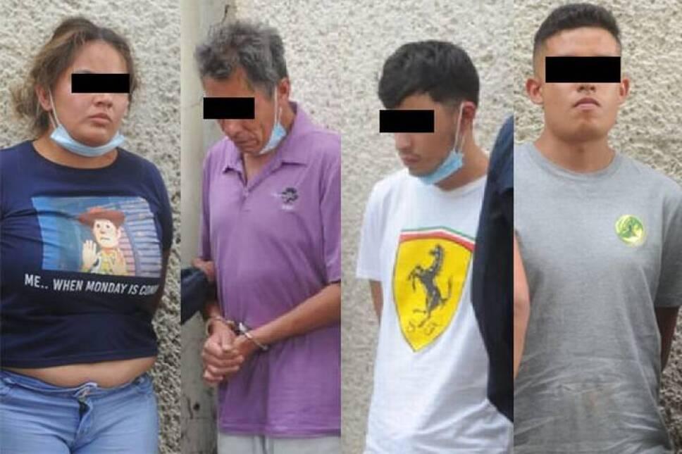 """Antonio """"N"""", alias """"El Mara"""", presunto integrante de La Unión Tepito, fue detenido junto con dos sujetos más y una mujer en la Morelos."""