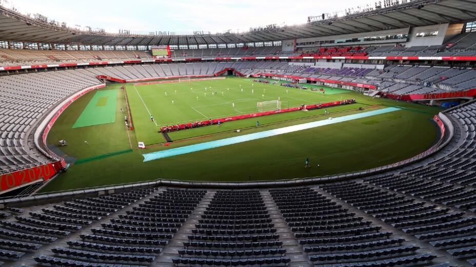 Estadio de Tokyo para los juegos de futbol