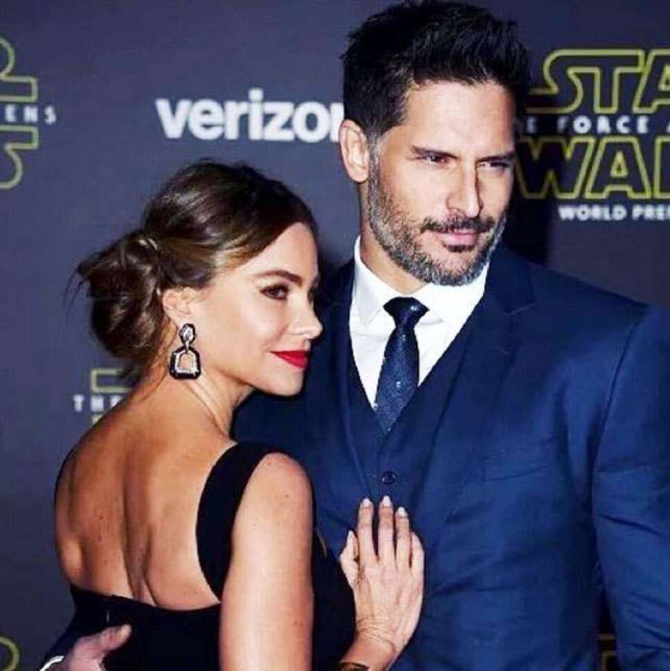 Sofía Vergara y Joe Manganiello en un estreno de Star Wars