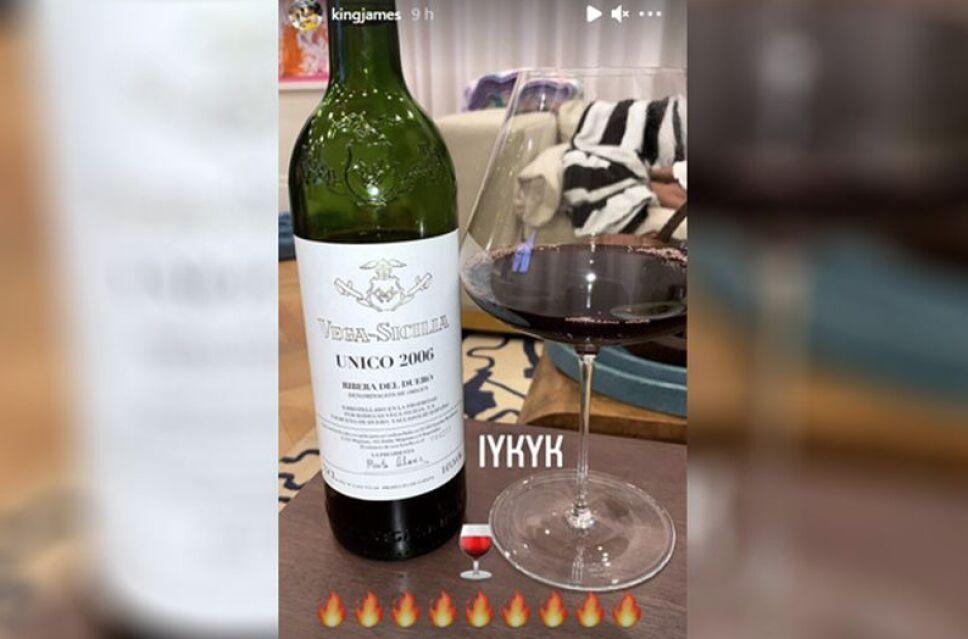 LeBron James disfruta el vino .jpg