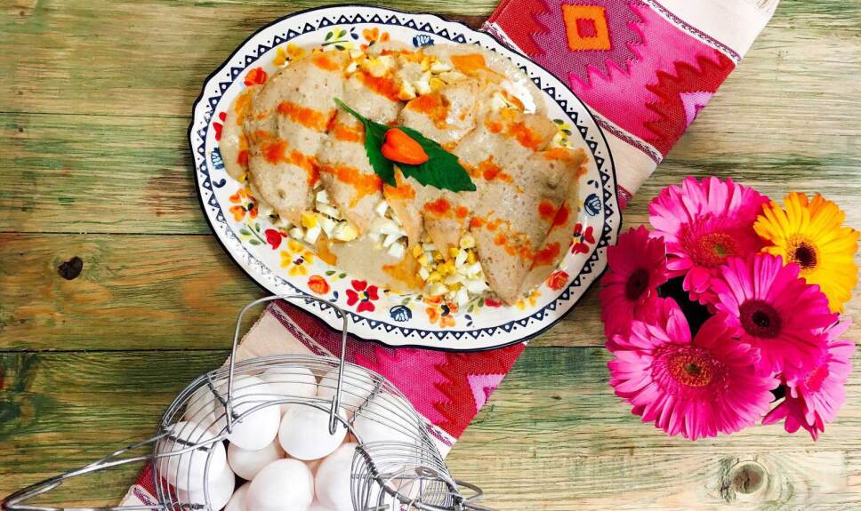 Receta Papadzules Cocineros Mexicanos