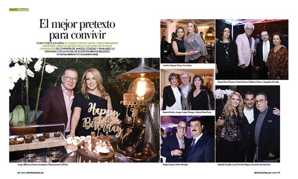 Asistimos a la fiesta de cumpleaños del conductor Jorge Fernández Menéndez