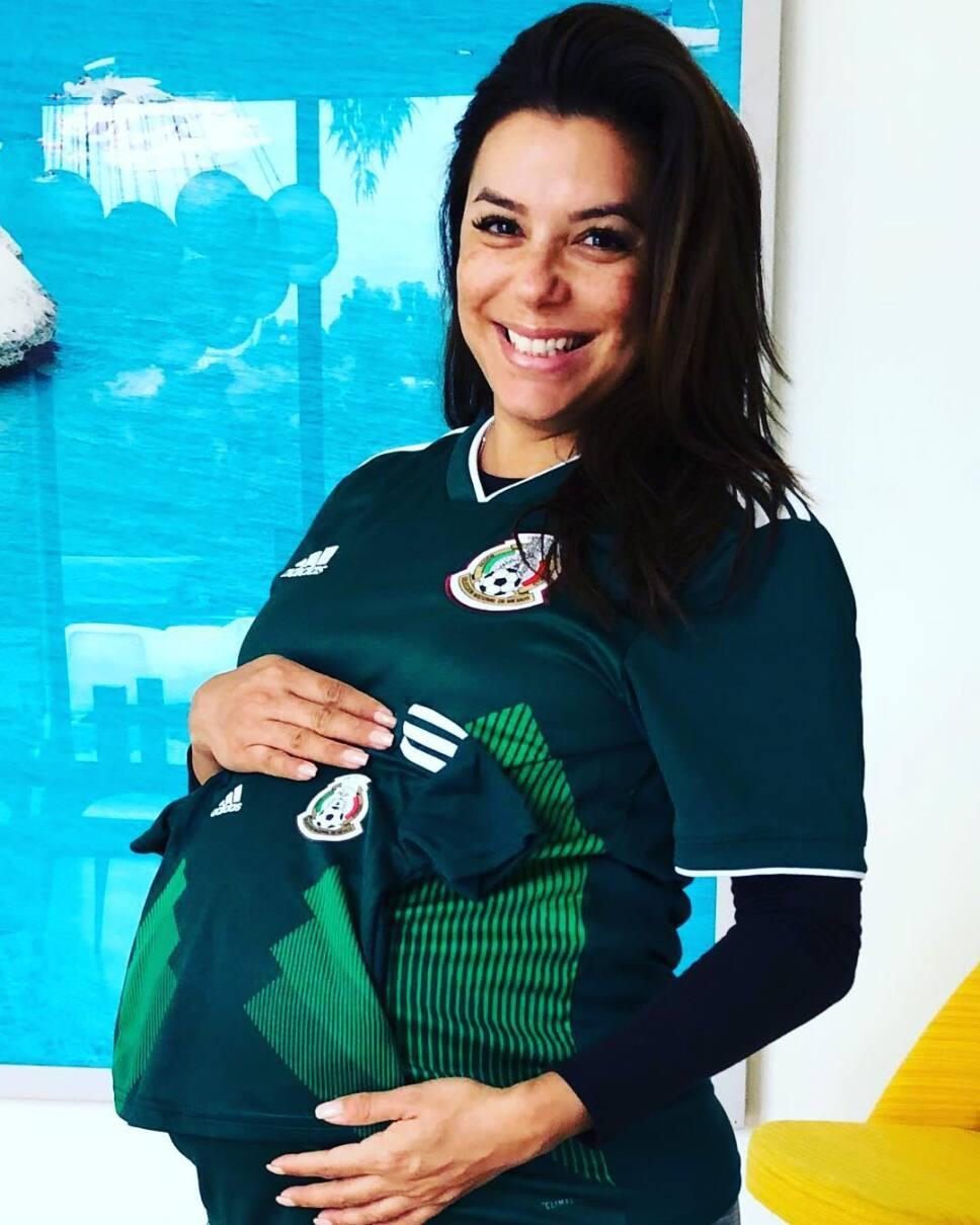 Eva Longoria apoyando a la selección mexicana / Foto: Especial