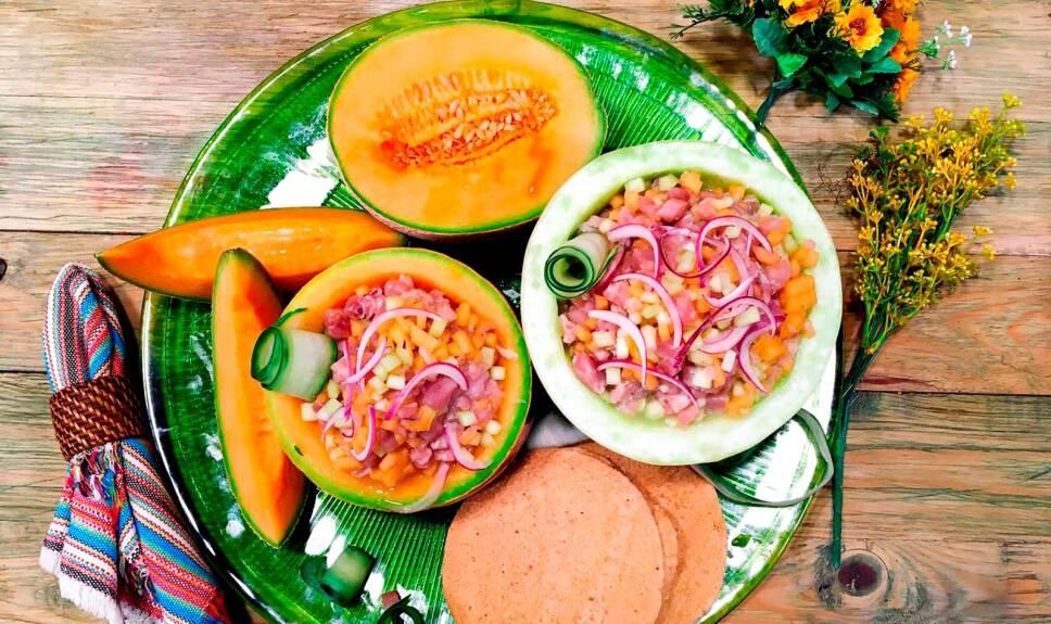 Receta Aguachile de melón con pescado