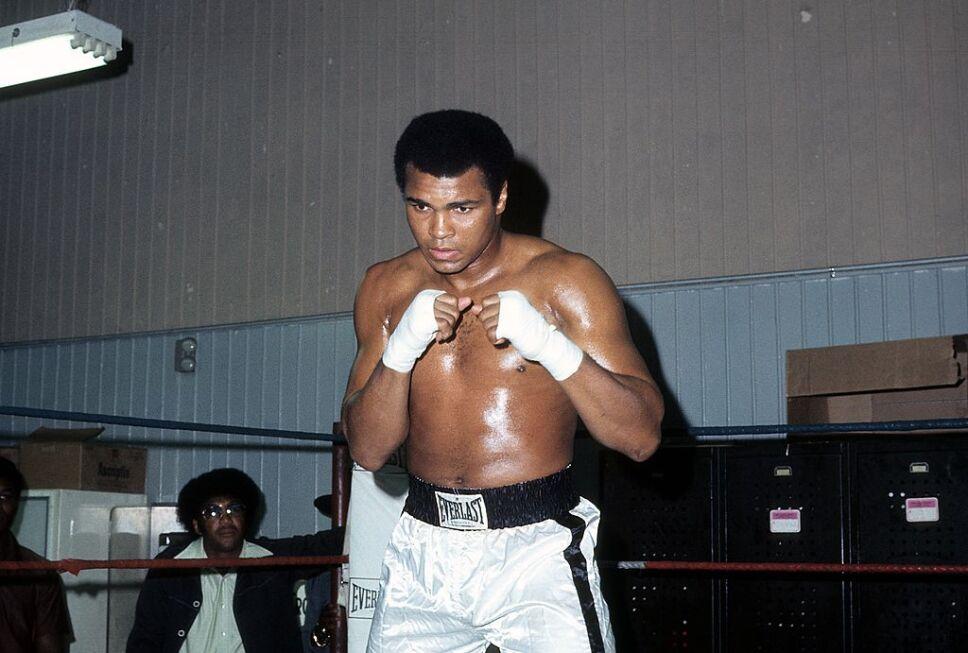Muhammad Ali entrena en Gleasons Gym