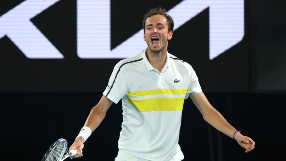 Daniil Medvedev en el Abierto de Australia