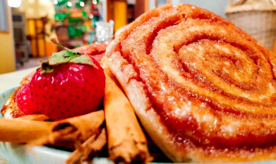Receta Hot cakes de rollo de canela