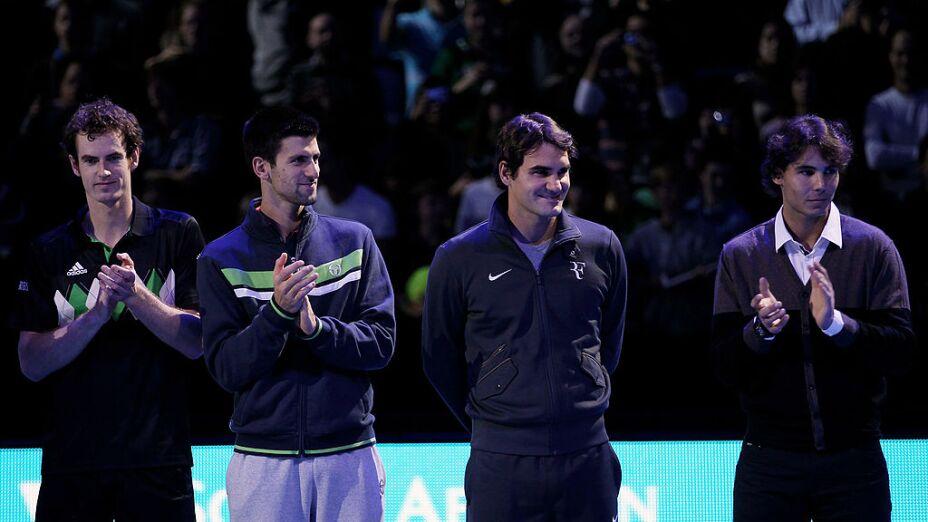 Federer, Nadal, Djokovic y Murray, los más grandes del tenis