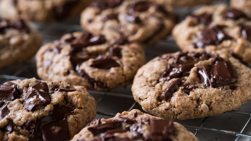 galletas veganas con chispas de chocolate