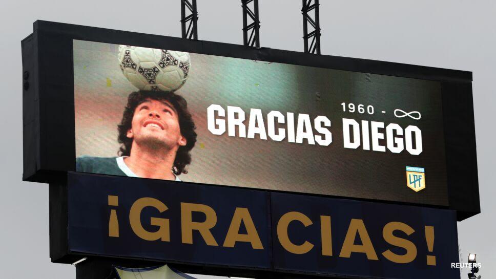 Homenaje a Diego Armando Maradona en la Bombonera
