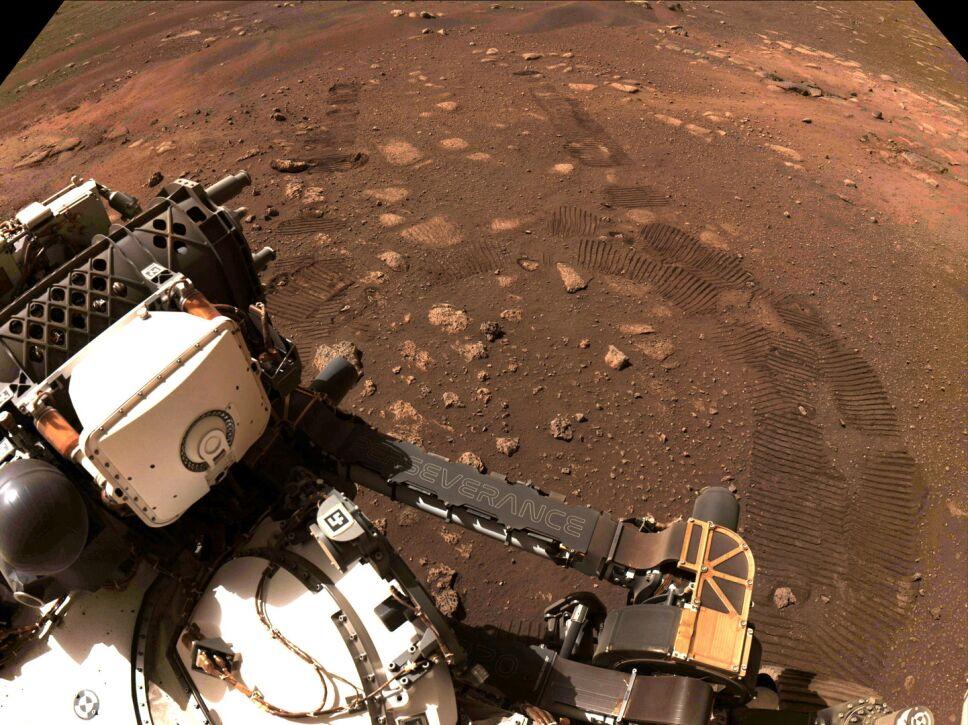 Perseverance en su primer viaje corto en Marte