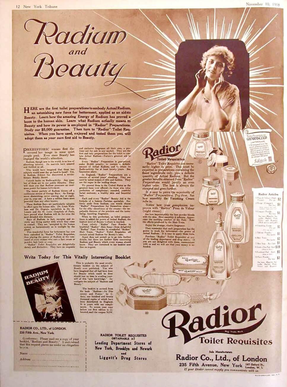 publicidad de maquillaje radiactivo radior