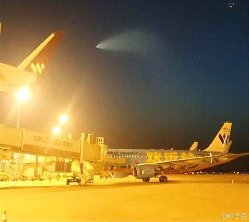 OVNI causa terror en China gobierno asegura que fue un misil