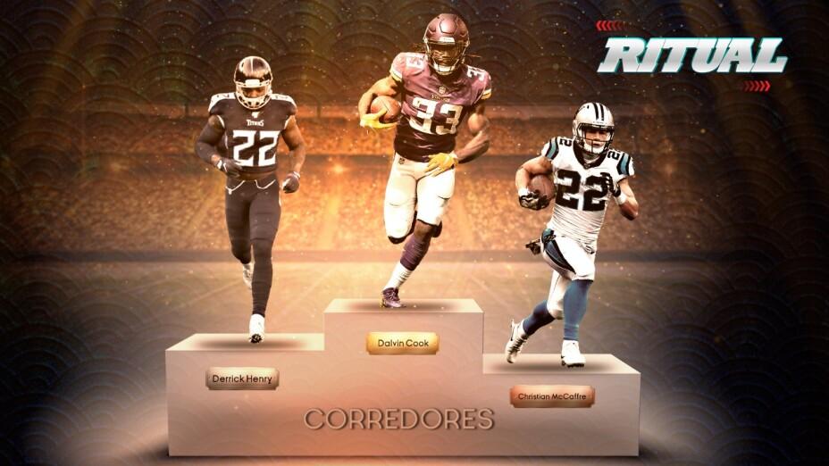Podio de corredores en la NFL