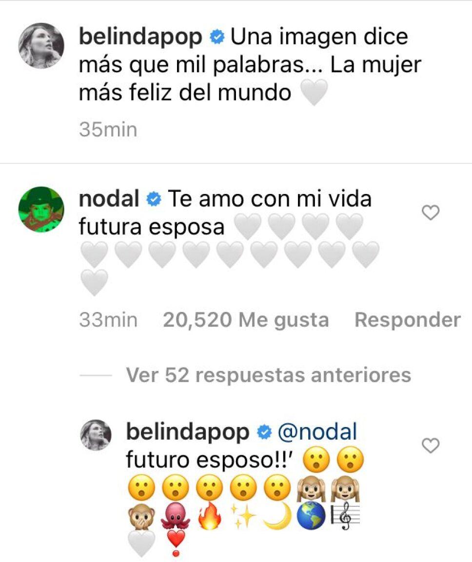 Belinda y Christian Nodal se comprometen