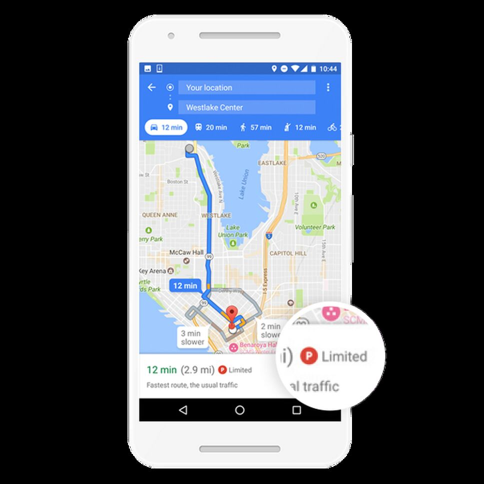 Google Maps parquímetro