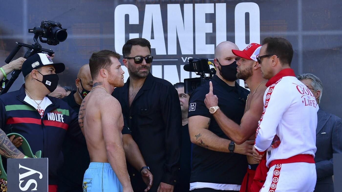 Pesaje de Canelo Álvarez vs Billy Joe Saunders