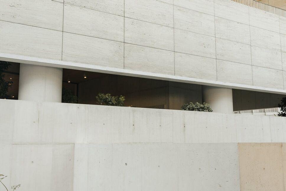 Vista de Eno en el museo jumex por fuera