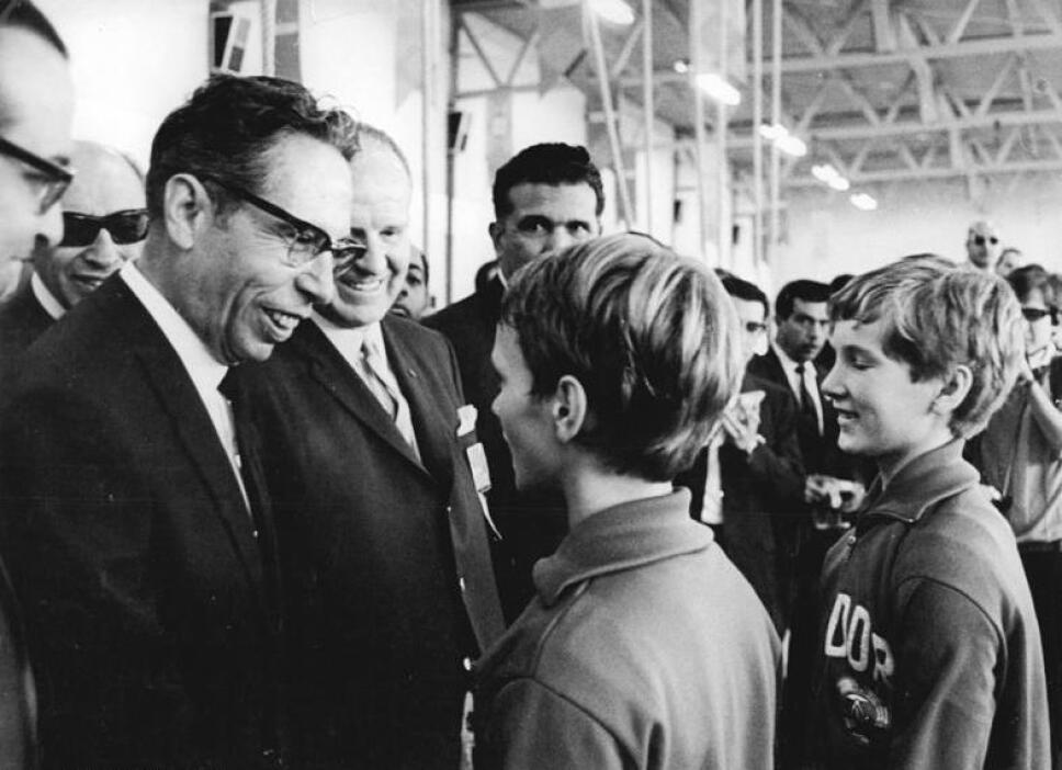 Gustavo Díaz Ordaz en los Juegos Olímpicos de México 68