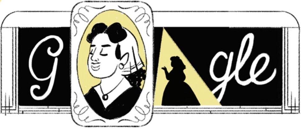 boceto google doodle angela peralta