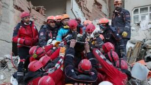 Earthquake aftermath in the Turkish eastern city of Elazig