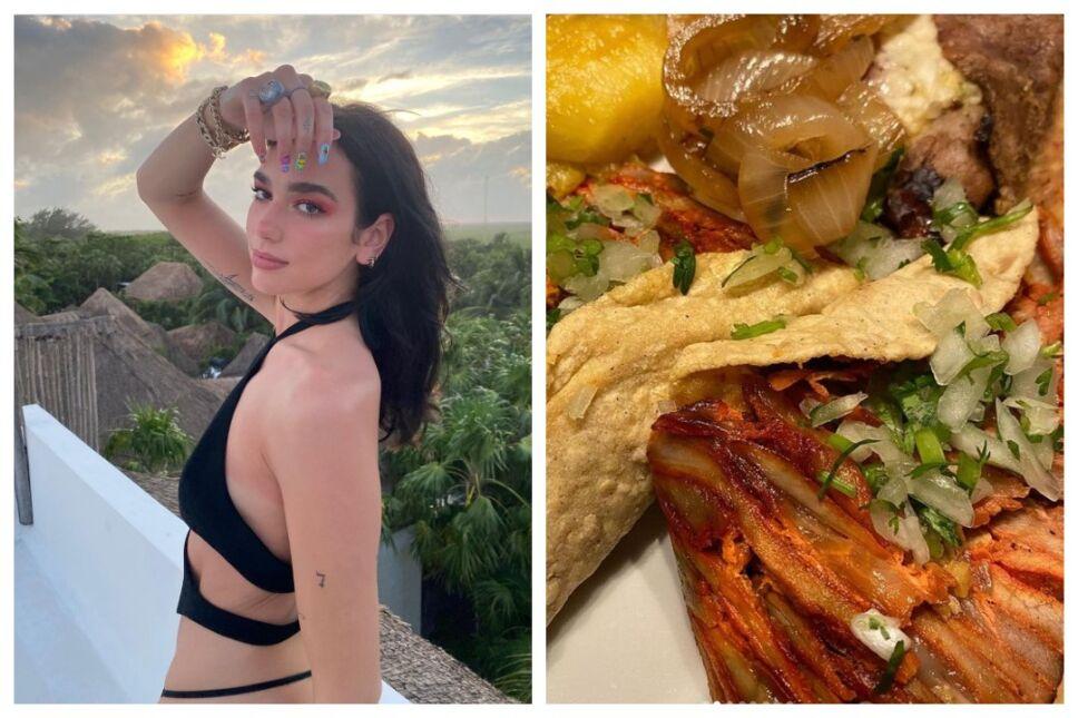 Dua Lipa y otros famosos que aman la comida mexicana