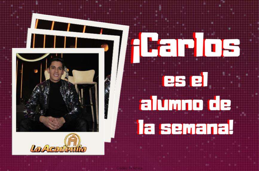 ¡Héctor Martínez, el director de La Academia felicitó a Carlos por su gran avance!