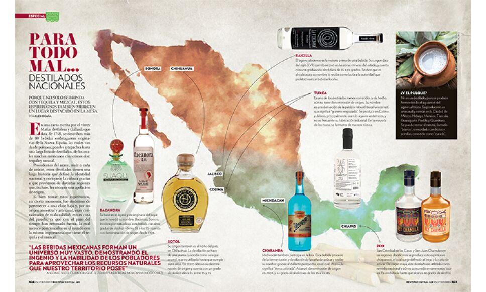 El tequila y el mezcal no son los únicos destilados mexicanos