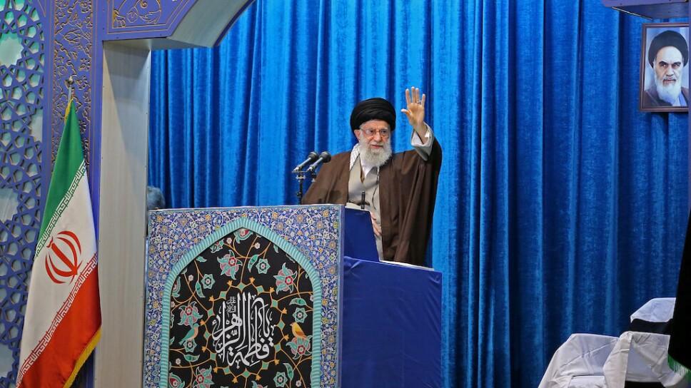 FOTO DE ARCHIVO. El líder supremo de Irán, el ayatolá ali Jamenei, ofrece un discurso en Teherán. Enero 17, 2020. Official Khamenei website/Handout via REUTERS ATTENTION EDITORS - THIS IMAGE WAS PROVIDED BY A THIRD PARTY