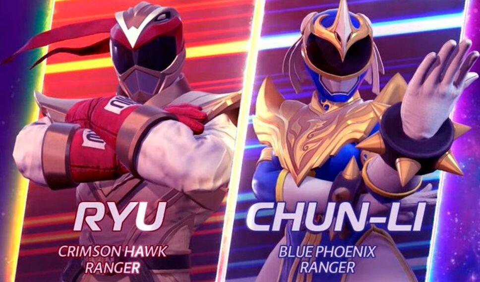 Ryu y Chun-Li se convierten en Power Rangers