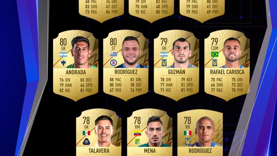 FIFA 22 Mejores jugadores Liga MX