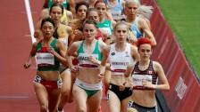 Laura Galván en los 1500m en Tokyo 2020