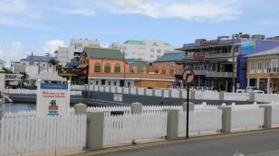 Imagen de archivo de la costanera de Georgetown, Gran Caimán.